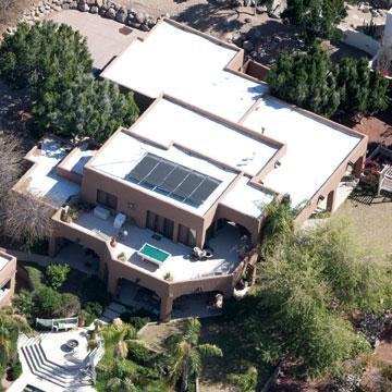 revêtement de toit blanc